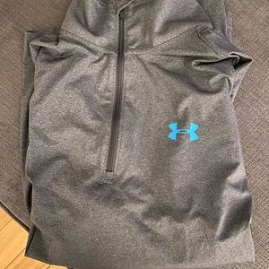 Under Armour grey quarter zip heatgear